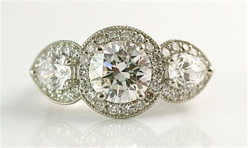 Custom diamond engagement ring by Ellie Thompson