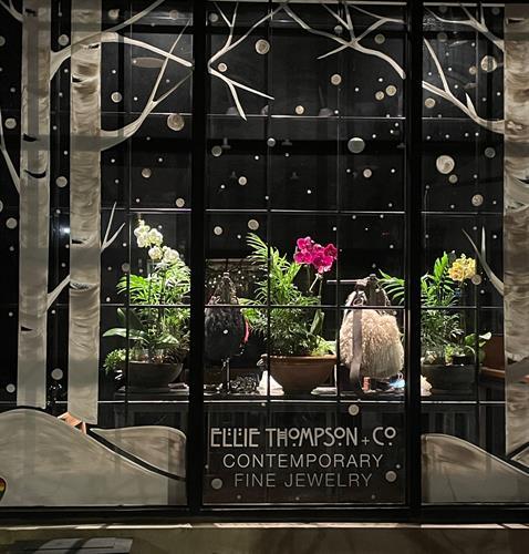 Window display at Ellie Thompson + Co.