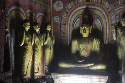 The magnificent Dambulla Caves in Sri Lanka