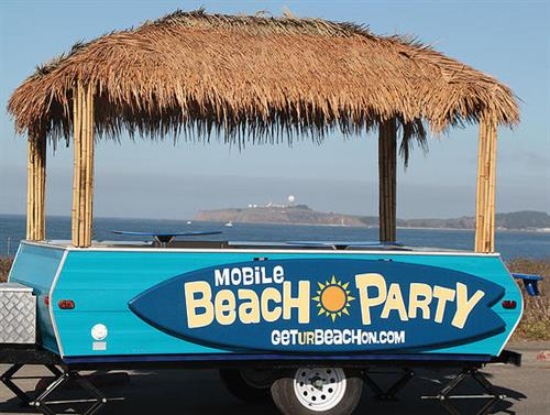 Get Ur Beach On party trailer
