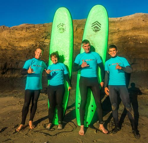 Group lessons at Surfers Beach in Half Moon Bay