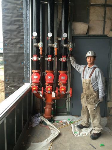 Commercial riser installation