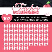 102 Coastside Teachers Supported by 64 Donators!