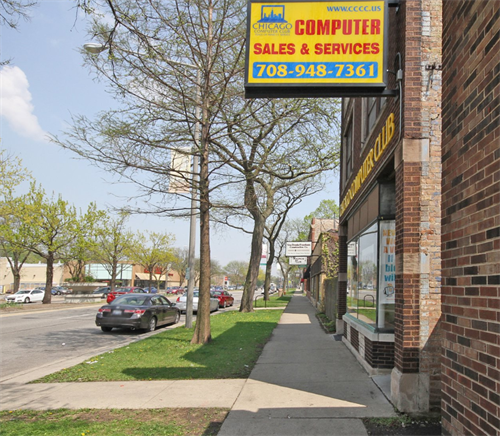 Chicago Computer Club - Oak Park Store (along side walk)