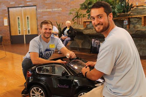 Kiwanis volunteers retrofit a car to help disabled children grow neural pathways and have fun