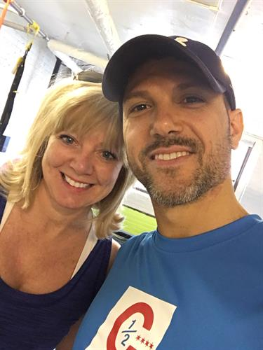 LaVern and her trainer Tommaso , Oak Park Fitness Trainer client since 2014