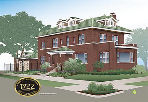 South Oak Park historic home drawing (sample)