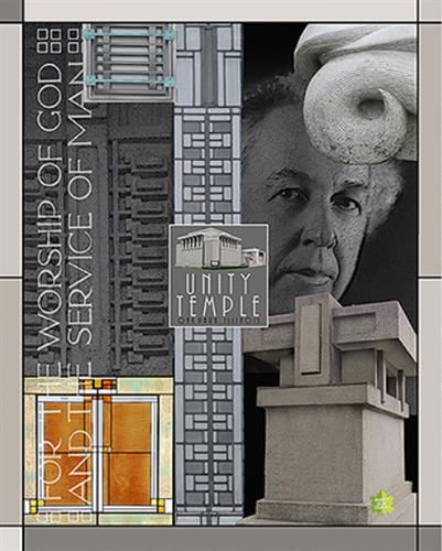Wright souvenir poster series / Unity Temple