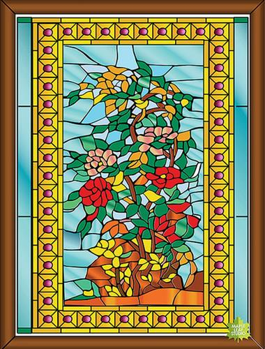 Art glass window drawing