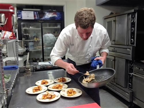 "Our Executive Chef, John ""Woody"" Linton, prepares meals both for our Monday Lunches and for events through Oak Park Banquets."