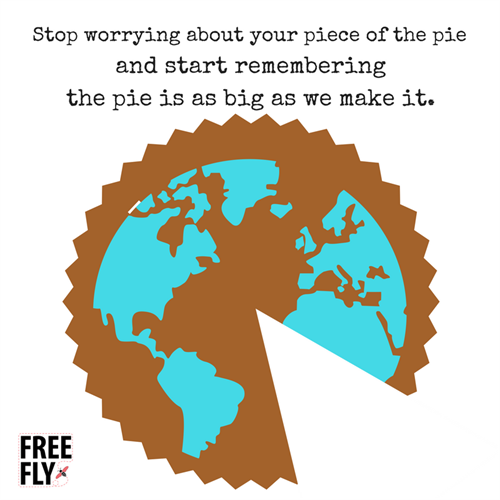 Your piece of the pie is as big as you make it!