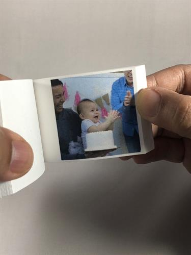 A perfect flipbook keepsake for for your loved ones
