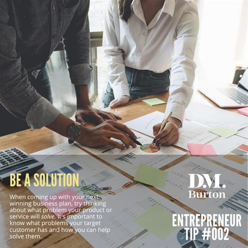 D.M. Burton | Entrepreneur tips posted on Instagram weekly
