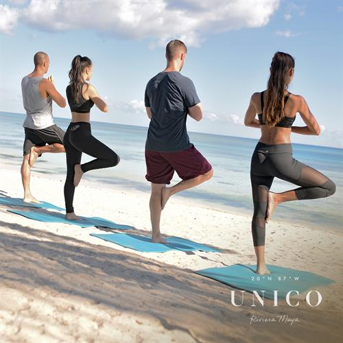 Yoga on a beach - sign me up!