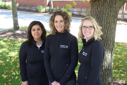 Dr. Saera Arain, Dr. Misty McNeill, Dr. Lauren Doyle (L to R)