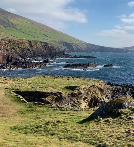On Slea Head Drive on Dingle Peninsula in Ireland.