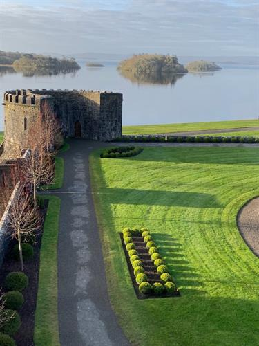 View from room at Ashford Castle in Ireland.