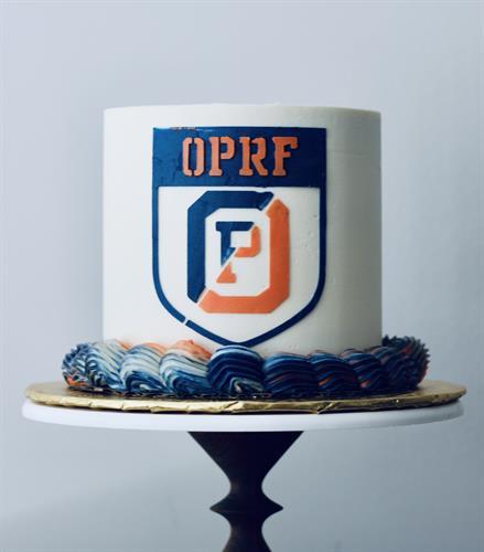 OPRF graduation cake - all buttercream, no fondant!