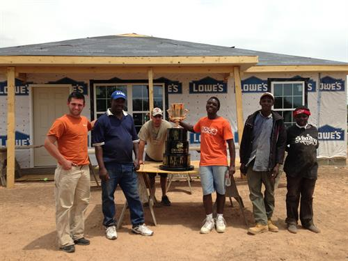 Bulls Players working with Habitat for Humanity