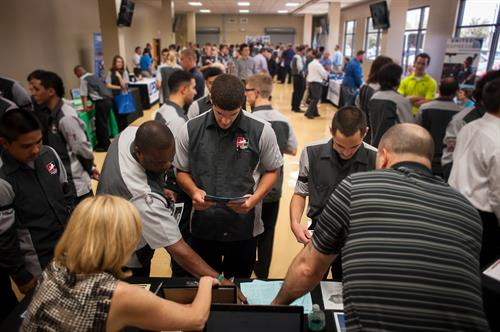 NAA has 3 Career Fairs a year at each campus.