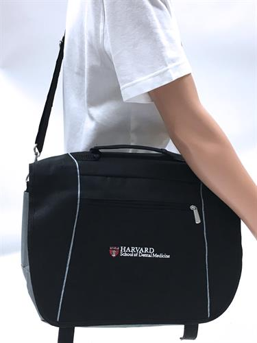 Messenger Bags with embroidery for The Harvard School on Dentistry