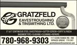 Gratzfeld Eavestroughing & Tinsmithing Ltd.