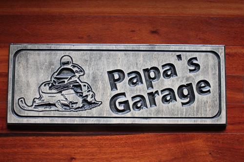 Papa's Garage - Rustic Ebony Stain