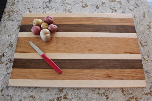 Cutting Board - Maple-Cherry-Walnut Combination 2