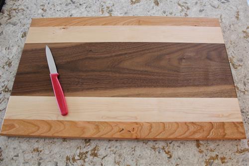Cutting Board - Cherry-Maple-Walnut Combination 9 Long-Grain