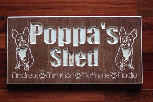 Poppa's Shed Paw Prints