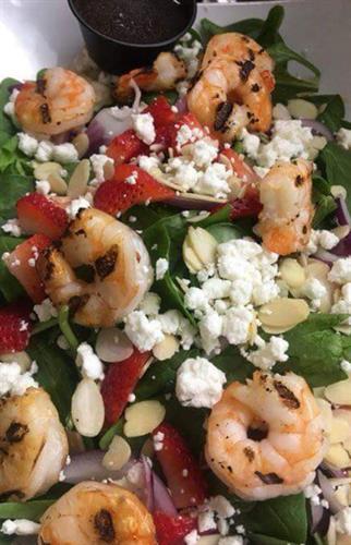 Shrimp Strawberry Spinach Salad