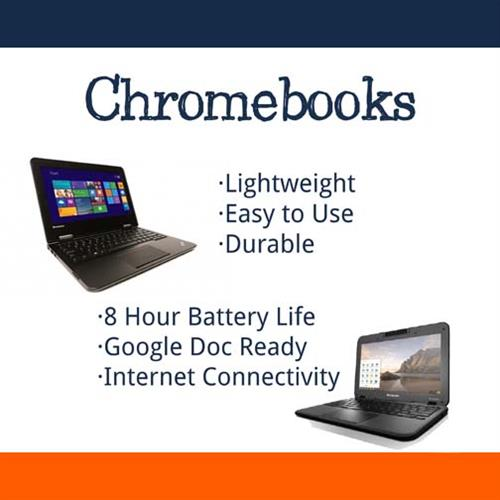 TRINUS has the Best, Top Brand Chromebooks. Lightweight, Easy-to-Use & Durable!