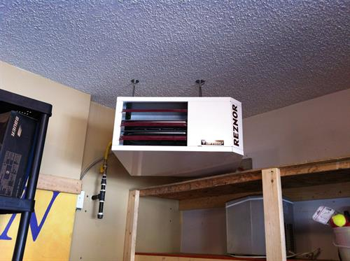 Forced air garage heater