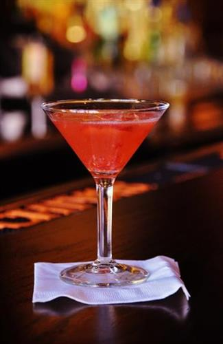 Colletti's signature Strawberry Kiss Martini.
