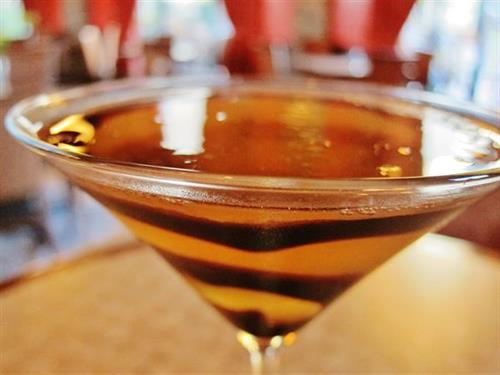 The NEWEST addition to Colletti's drink line-up, The Almond Joy Martini