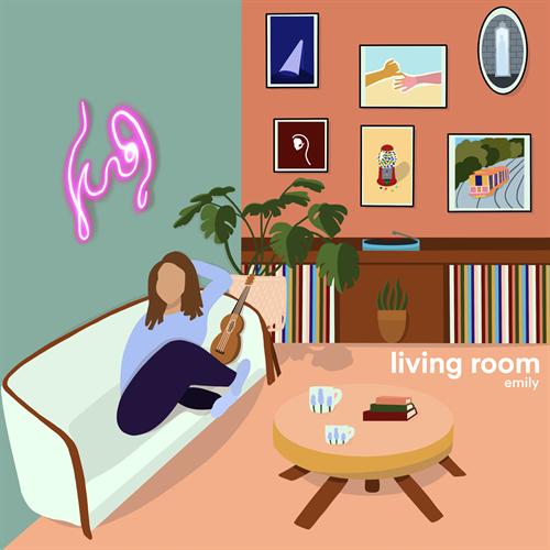 """living room"" EP artwork by Ginger Batton / GingerBayStudios"