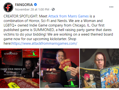 AFMG was featured I Fangoria OCT 2020