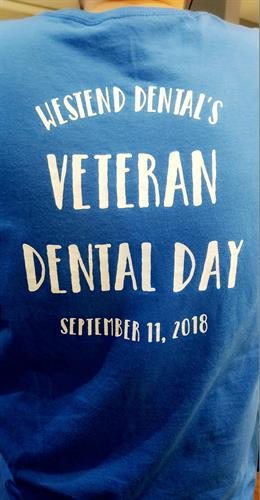 Proud of Being able to Give Back.... 1st Annual Veteran Dental Day