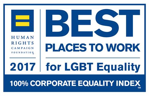 2017 100% CEI Rating - Best Places to Work for LGBT Equality