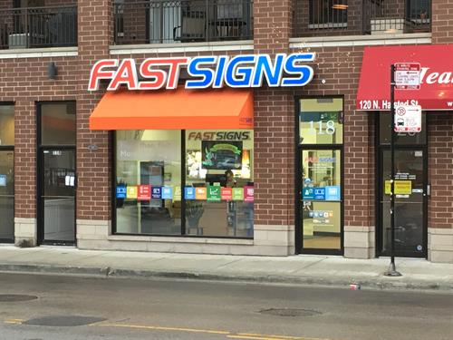 Store front at 118 N Halsted Street