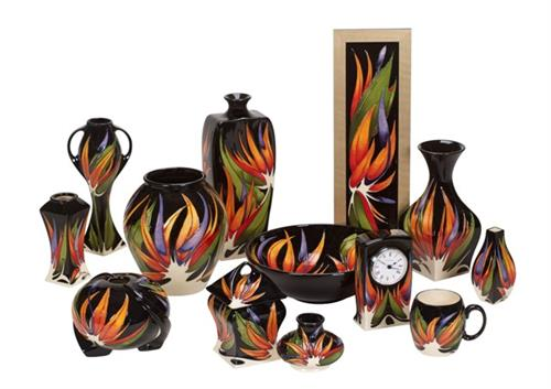 We have a Wonderful selection of Moorcroft Pottery. Hand made in Stoke on Trent, England