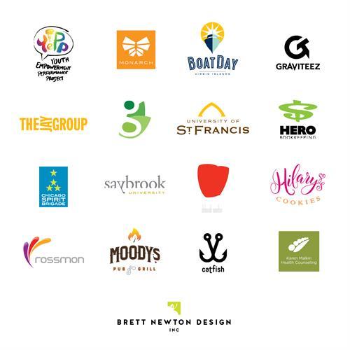 Selected logo designs by Brett Newton Design, Inc.