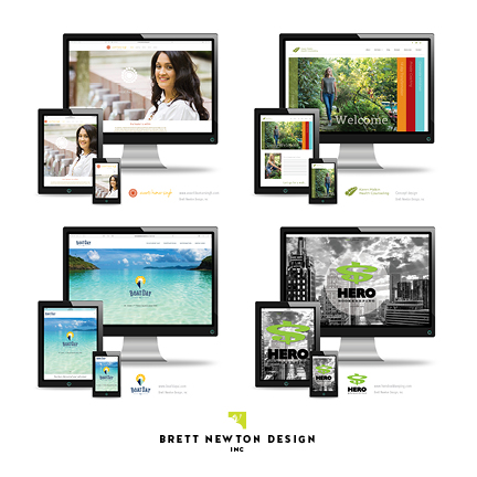 Selected website designs by Brett Newton Design, Inc.