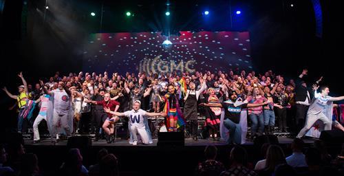 CGMC performs HOLIDISCO at the Athenaeum Theatre, 12/2019.