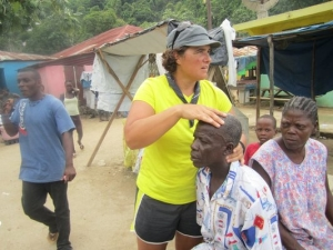 Dr. Maj during her Haiti mission trip