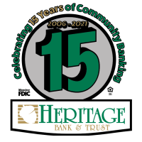 Heritage Bank & Trust Celebrates 15 Years of Community Banking in 2021