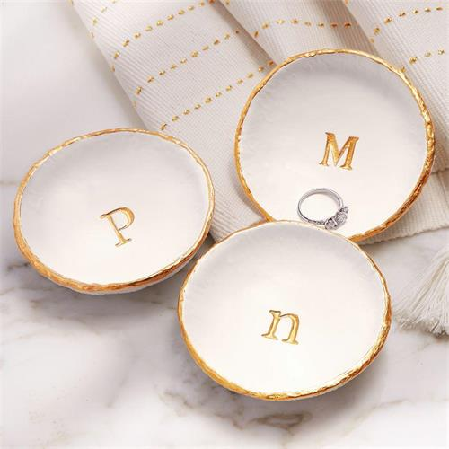 Mud Pie Initial Trinket Dishes