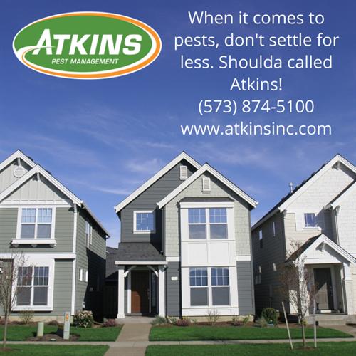 Shoulda called Atkins for Pest Management!