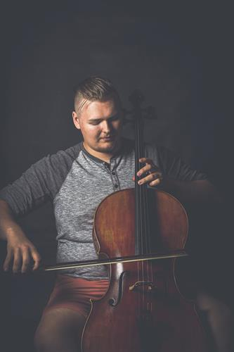 Senior Portrait of Cello Player