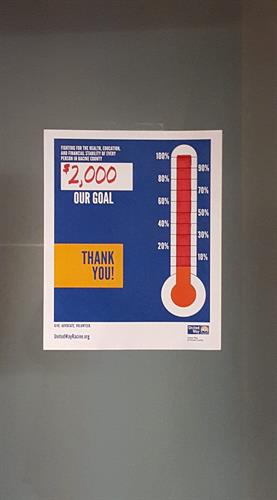Helping the United Way.  We made our goal.